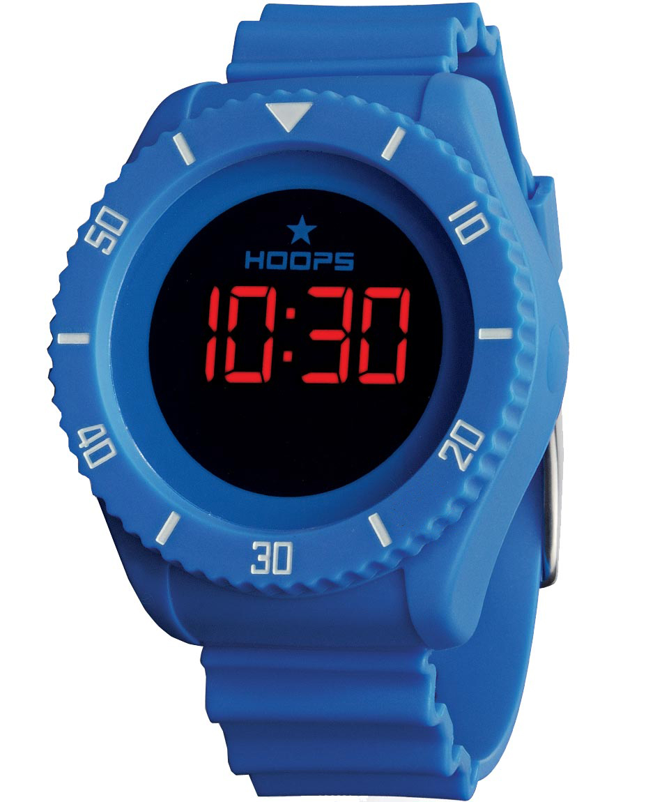 HOOPS Underwater Touch Digital Blue Rubber Strap 2479ME-03