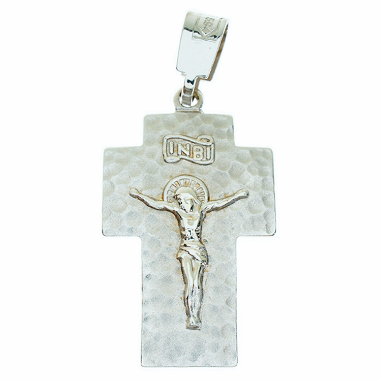 Σταυρός Βάπτισης 14Κ Λευκόχρυσος Ανδρικός ST839
