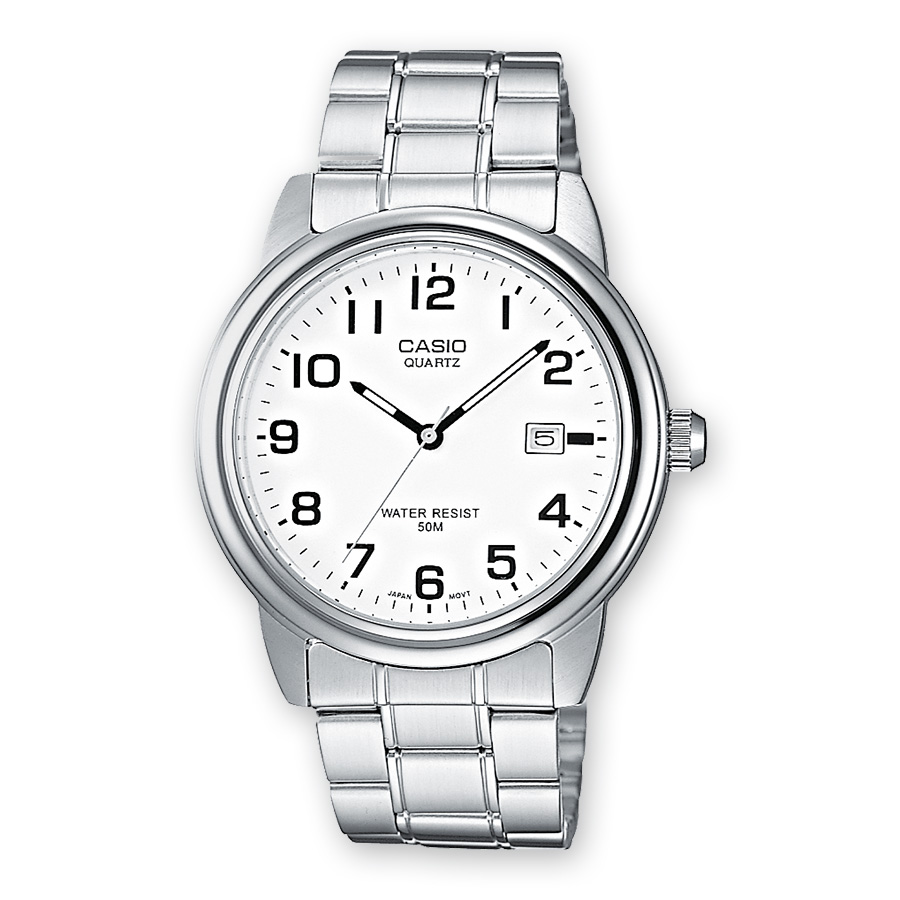 CASIO Collection Stainless Steel Bracelet White Dial MTP-1221A-7BV