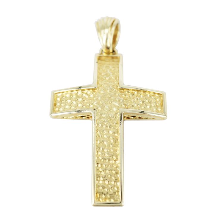 Σταυρός Βάπτισης 14Κ Δίχρωμος Χρυσός Ανδρικός ST1191