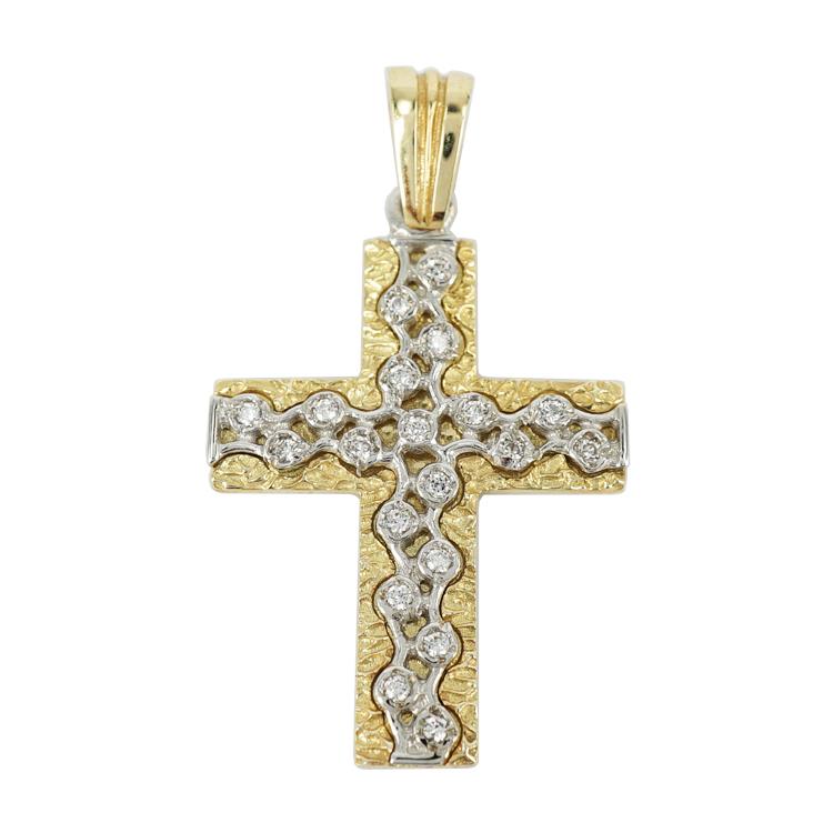 Σταυρός Βάπτισης 14Κ Κίτρινος Χρυσός Γυναικείος ST1190