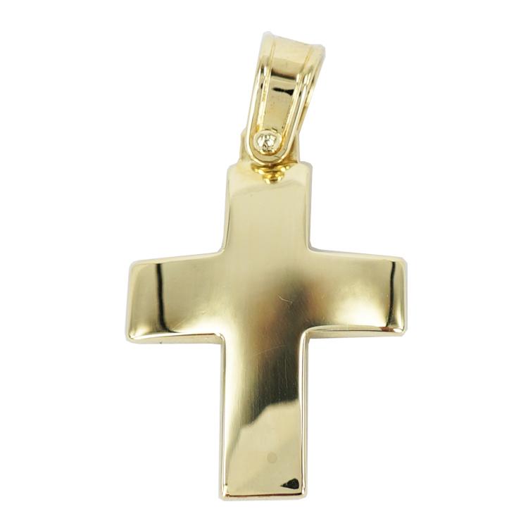 Σταυρός Βάπτισης 14Κ Κίτρινο Χρυσό Ανδρικός ST1209