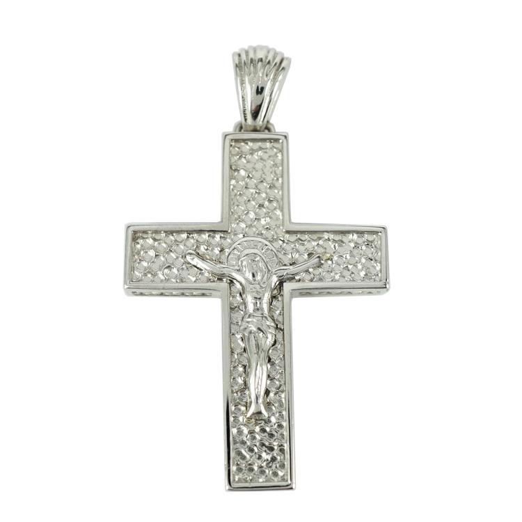Σταυρός Βάπτισης 14Κ Λευκόχρυσος Ανδρικός ST1318