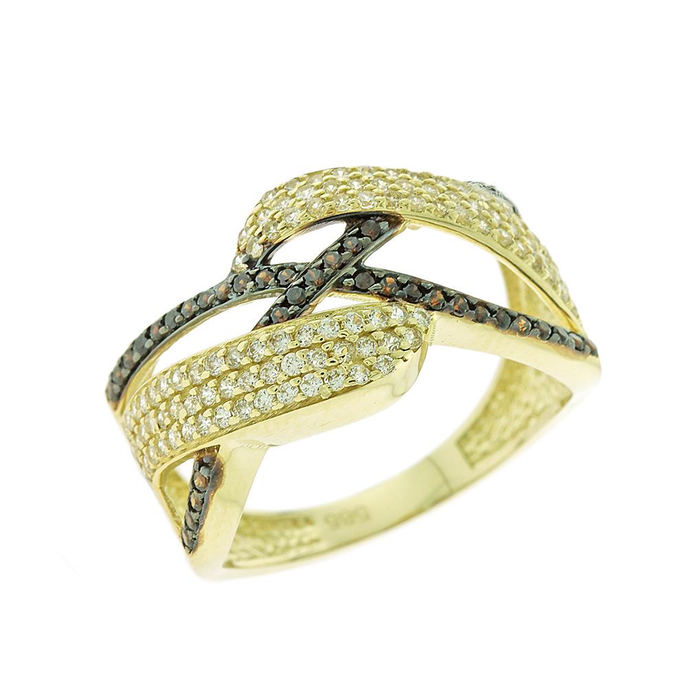 Κίτρινο Χρυσό Δαχτυλίδι Πλεξούδα Κ14 DX66646
