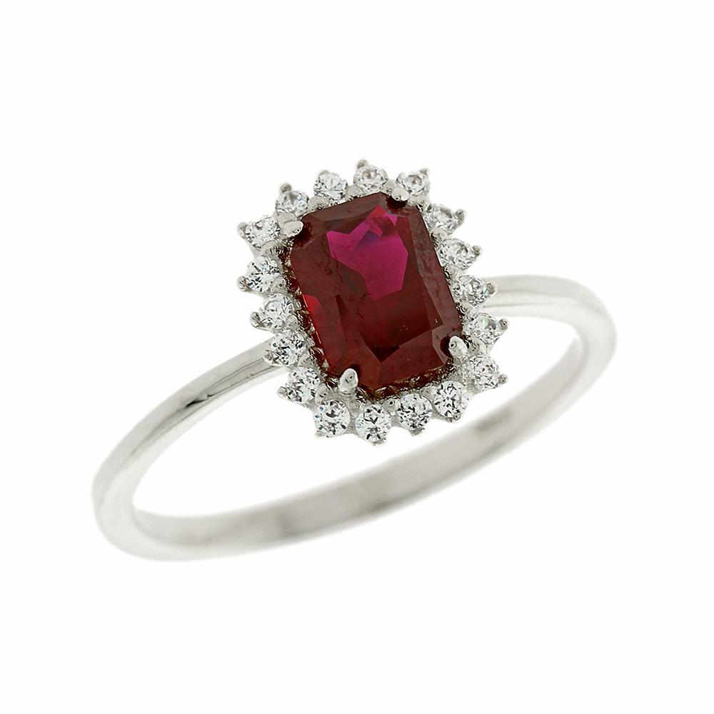Λευκόχρυσο Δαχτυλίδι Ροζέτα Κ14 DX61787