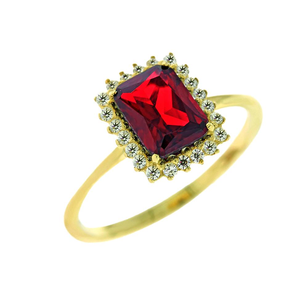 Κίτρινο Χρυσό Δαχτυλίδι Ροζέτα Κ14 DX64956