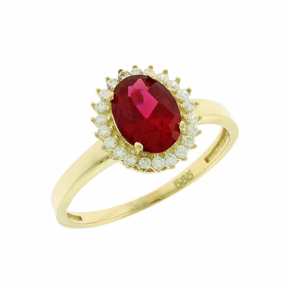 Κίτρινο Χρυσό Δαχτυλίδι Ροζέτα Κ14 DX66860