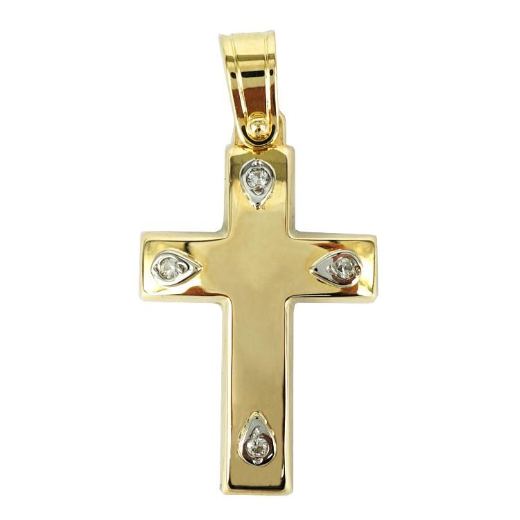 Σταυρός Βάπτισης 14Κ Κίτρινος Χρυσός Γυναικείος ST1293