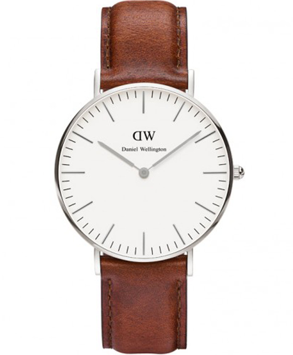 DANIEL WELLINGTON St Andrews Brown Leather Strap 0607DW