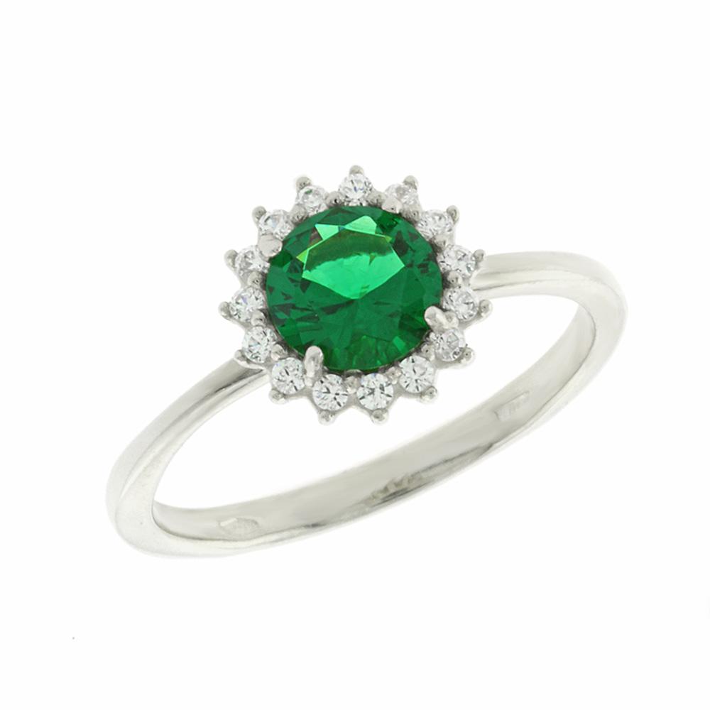 Λευκόχρυσο Δαχτυλίδι Ροζέτα Κ14 DX64571