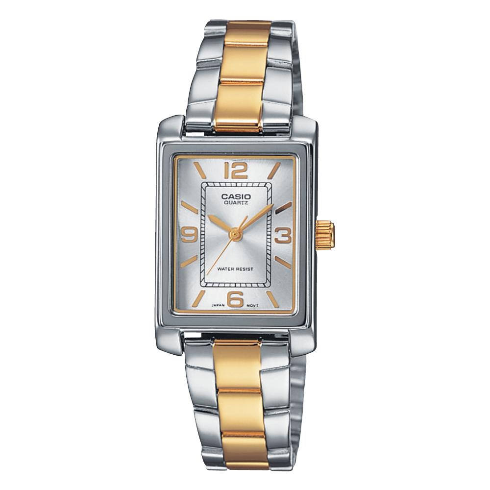 CASIO Collection Two-Tone Stainless Steel Bracelet LTP-1234PSG-7AEF