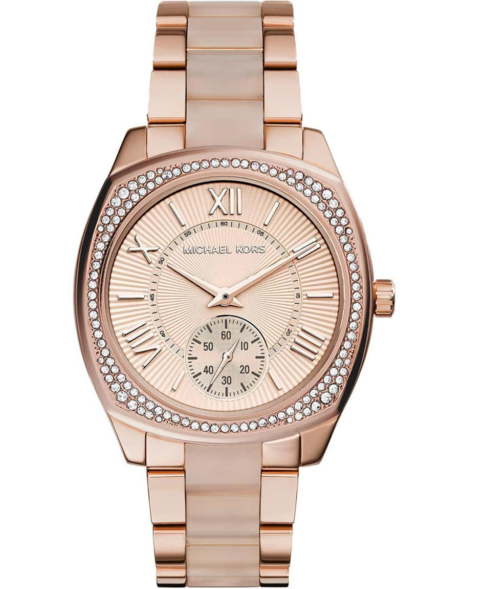 MICHAEL KORS Bryn Resin & Rose Gold Stainless Steel Bracelet MK6135