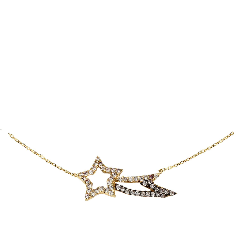 Κίτρινο Χρυσό Κολιέ με Αστέρι Κ14 KL131