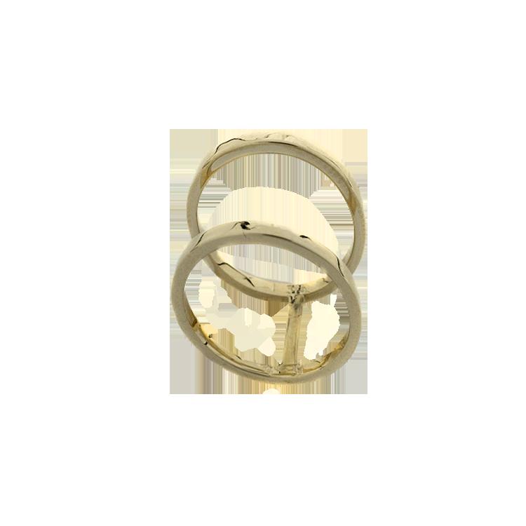 Κίτρινο Χρυσό Δαχτυλίδι Minimal Lines Chevalier Κ9 DX172