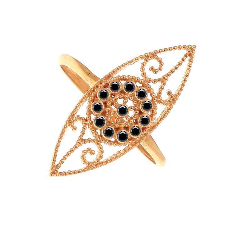 Gregio Ροζ Χρυσό Δαχτυλίδι Μάτι Κ9 30279Β