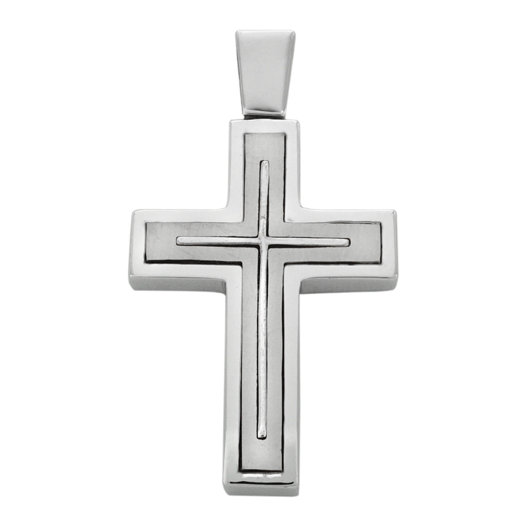 Σταυρός Βάπτισης 14Κ Λευκόχρυσος Ανδρικός ST1485