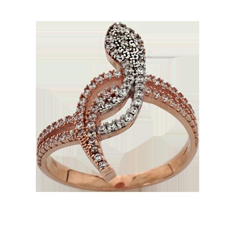 Ροζ Χρυσό Δαχτυλίδι Κ14 DX198