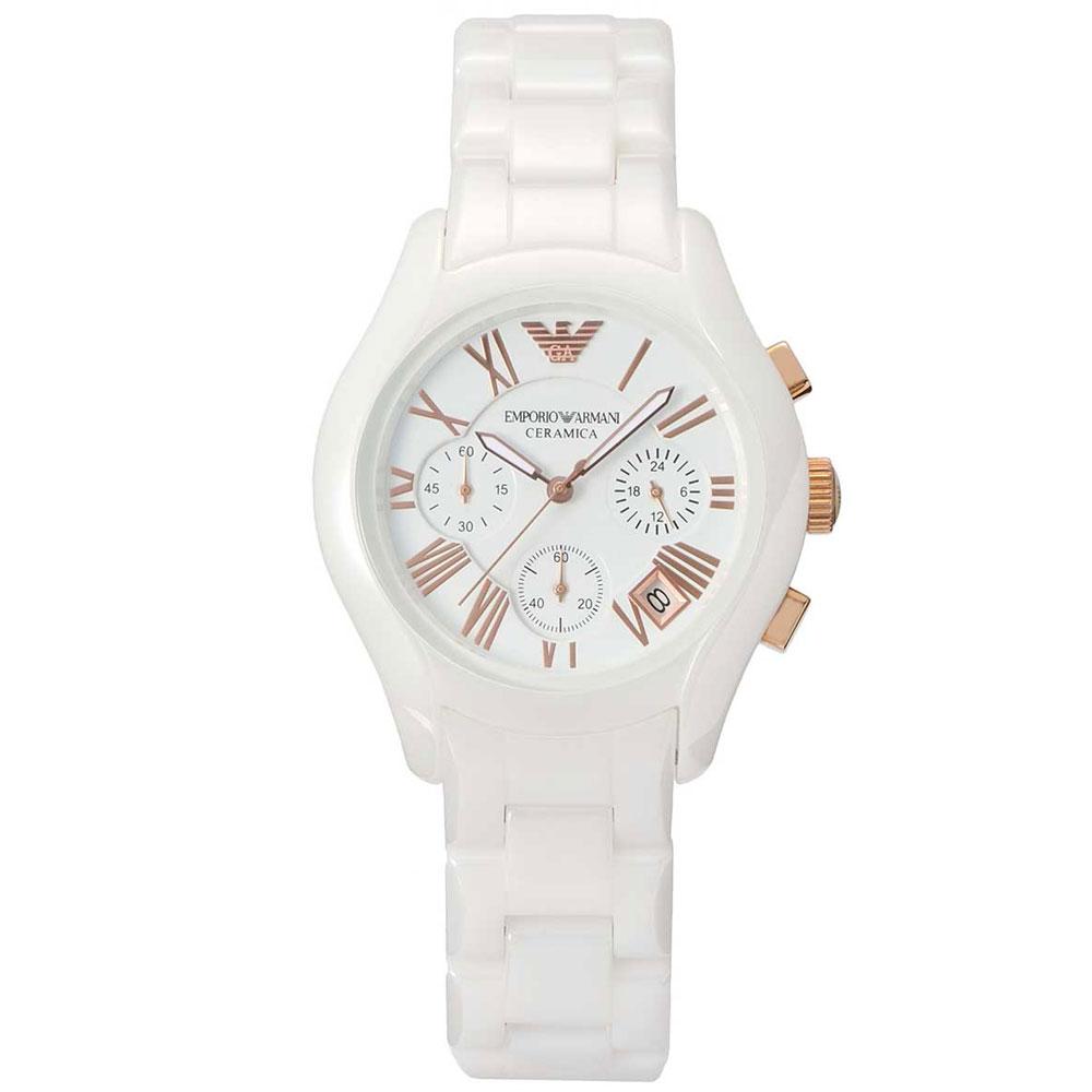 Emporio Armani Ladies Ceramica Watch White Bracelet AR1417