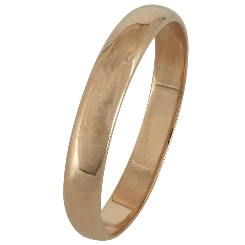 Ασημένια Βέρα Γάμου με Ροζ Επιχρύσωμα WRS166R
