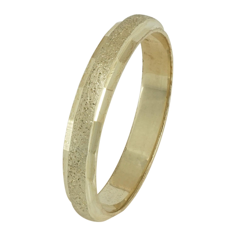 Ασημένια Βέρα Γάμου με Κίτρινο Επιχρύσωμα WRS108