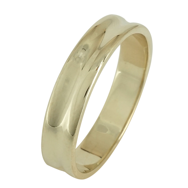 Ασημένια Βέρα Γάμου με Κίτρινο Επιχρύσωμα WRS100