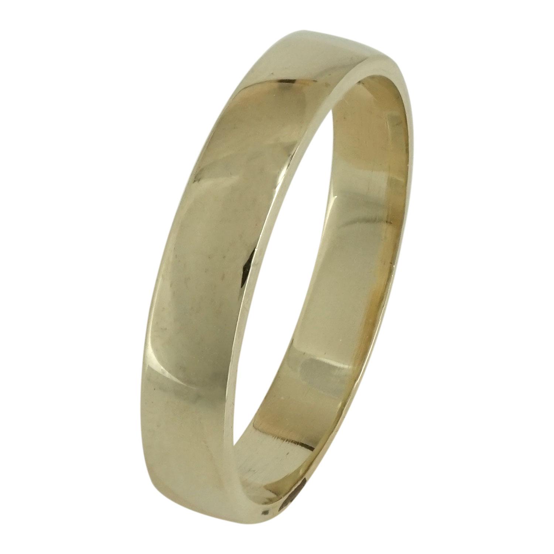Ασημένια Βέρα Γάμου με Κίτρινο Επιχρύσωμα WRS103