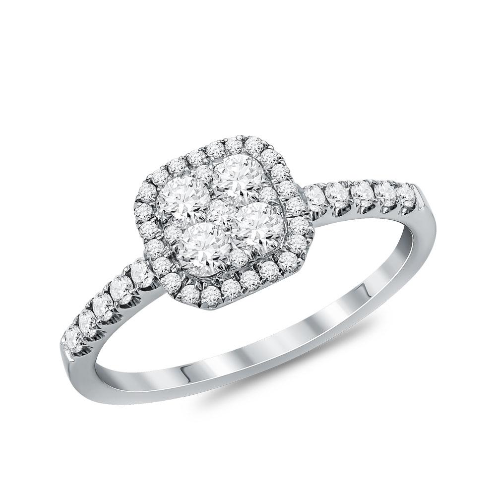 Μονόπετρο Δαχτυλίδι Κ18 με Διαμάντια Brilliant D112173