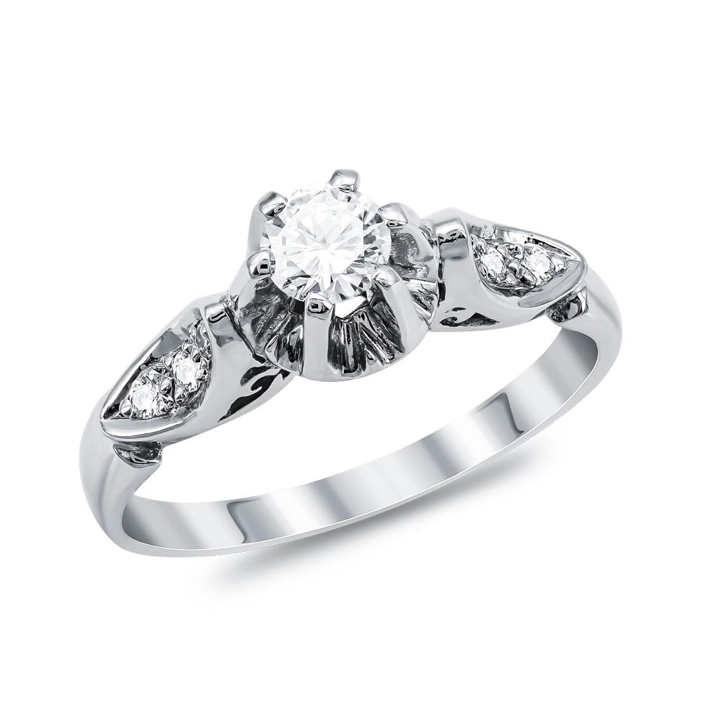 Μονόπετρο Δαχτυλίδι Κ18 με Διαμάντι Brilliant D2072
