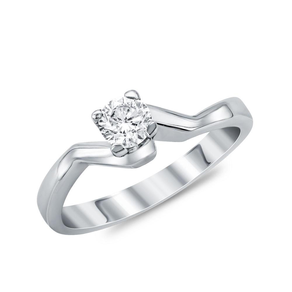 Μονόπετρο Δαχτυλίδι Κ18 με Διαμάντι Brilliant D29307