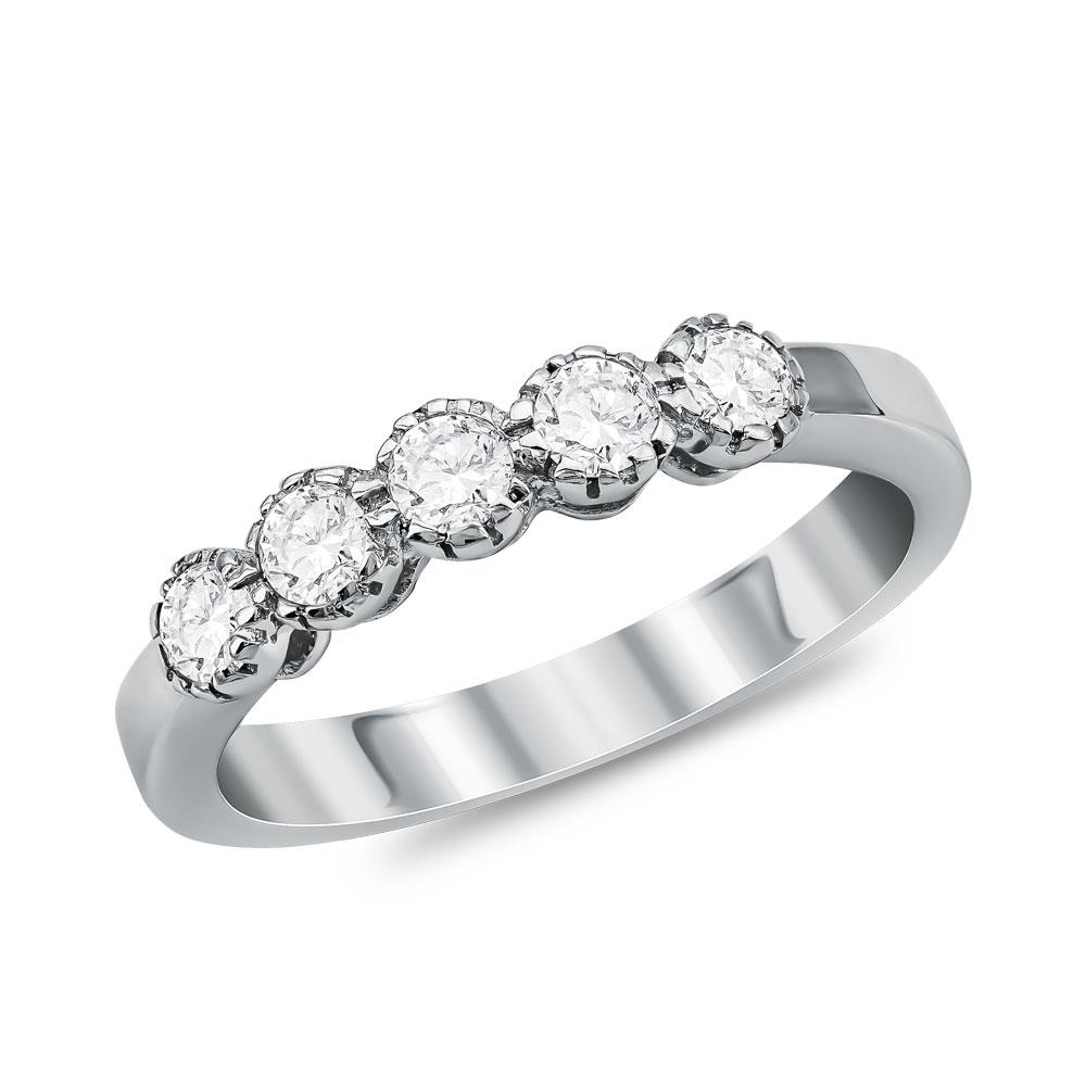 Λευκόχρυσο Σειρέ Δαχτυλίδι Κ18 με Διαμάντια Brilliant D031077