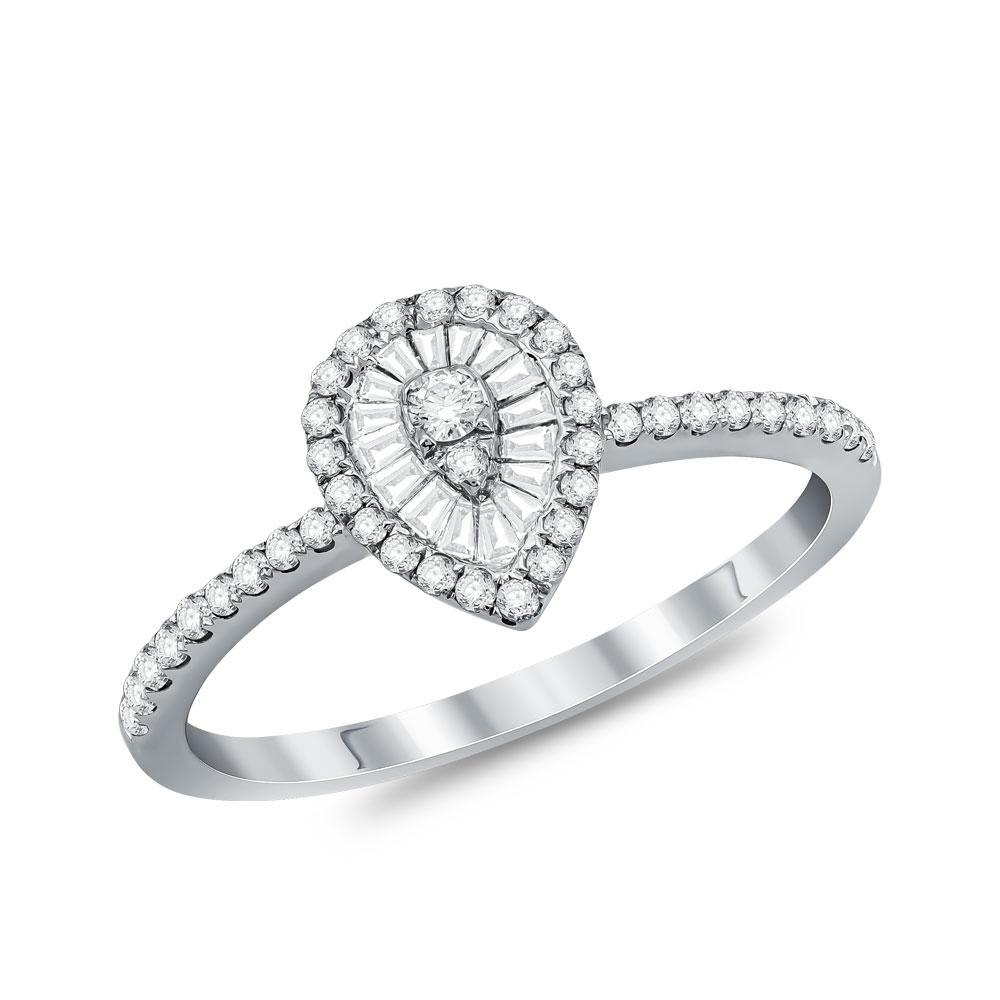 Μονόπετρο Δαχτυλίδι Κ18 με Διαμάντια Brilliant D34744