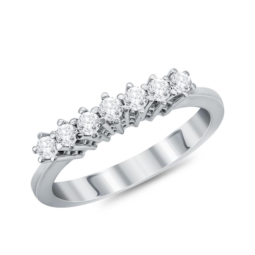 Λευκόχρυσο Σειρέ Δαχτυλίδι Κ18 με Διαμάντια Brilliant D055601