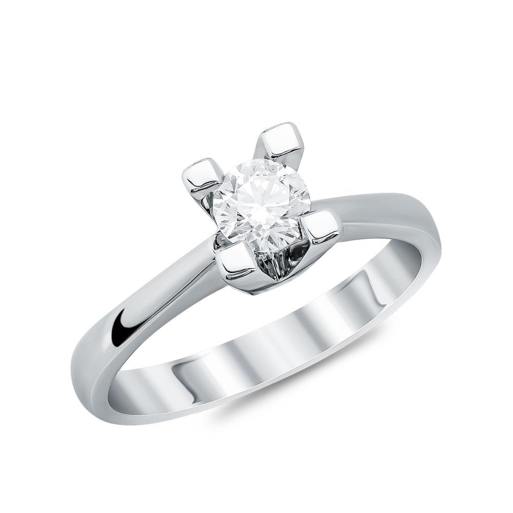 Μονόπετρο Δαχτυλίδι Κ18 με Διαμάντι Brilliant D71958