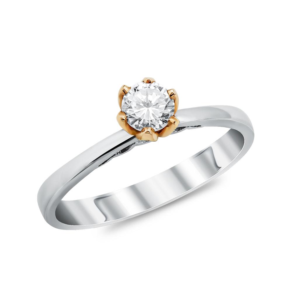 Μονόπετρο Δαχτυλίδι Κ18 με Διαμάντι Brilliant DDX191