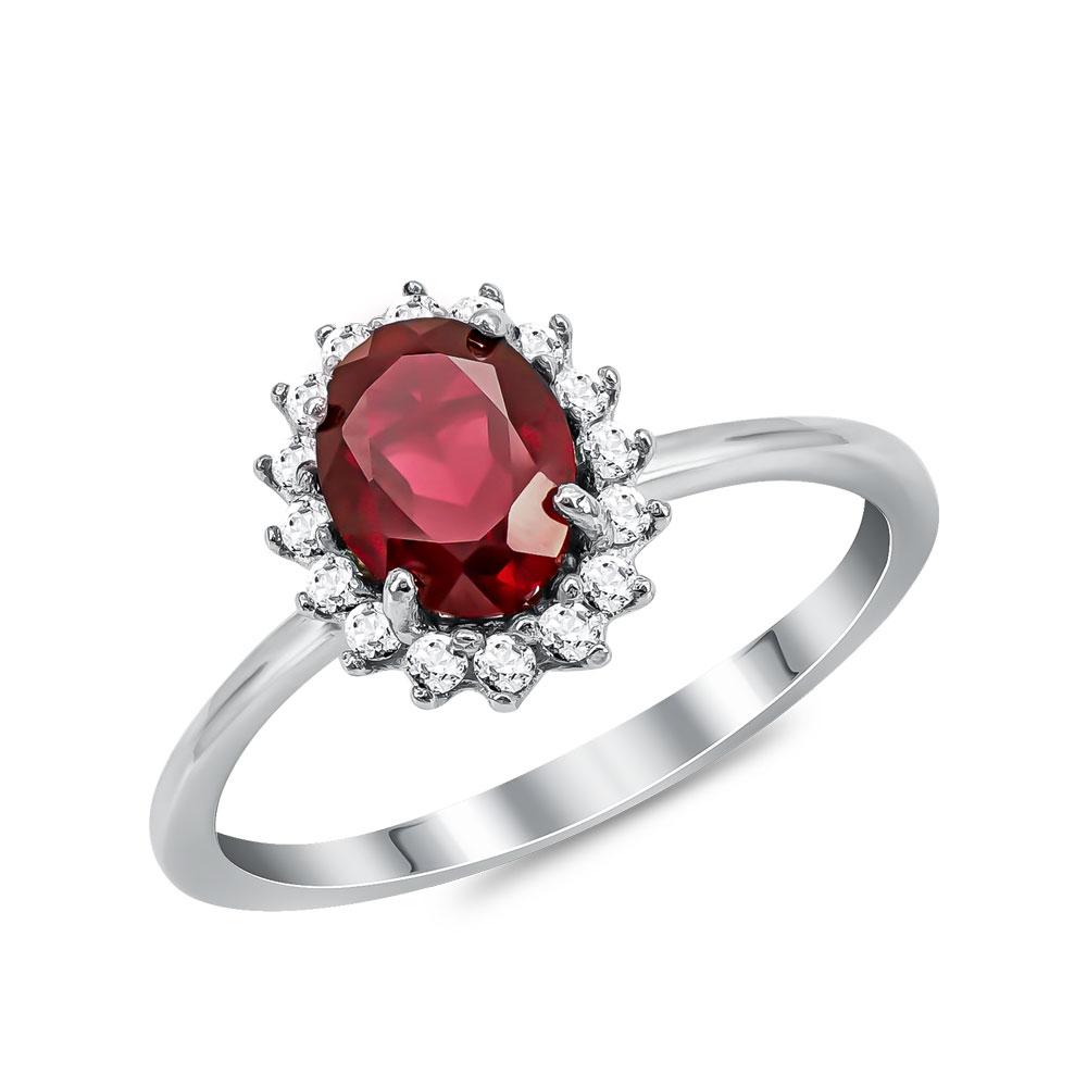 Λευκόχρυσο Δαχτυλίδι Ροζέτα Κ14 DX61778