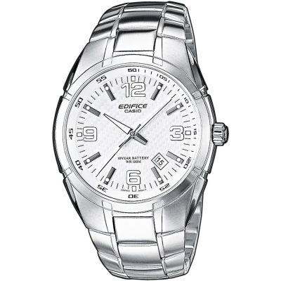 CASIO Edifice Stainless Steel Bracelet White Dial EF-125D-7AVEF