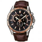 CASIO Edifice Brown Leather Chronograph Watch EFR-510L-5AVEF