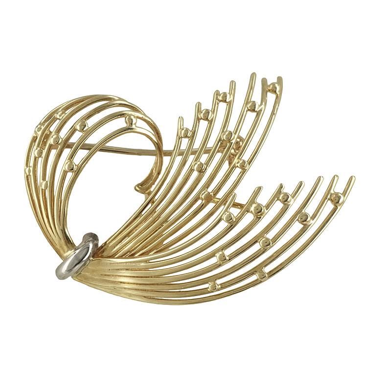 Κίτρινη Χρυσή Καρφίτσα Κ14 KRF108