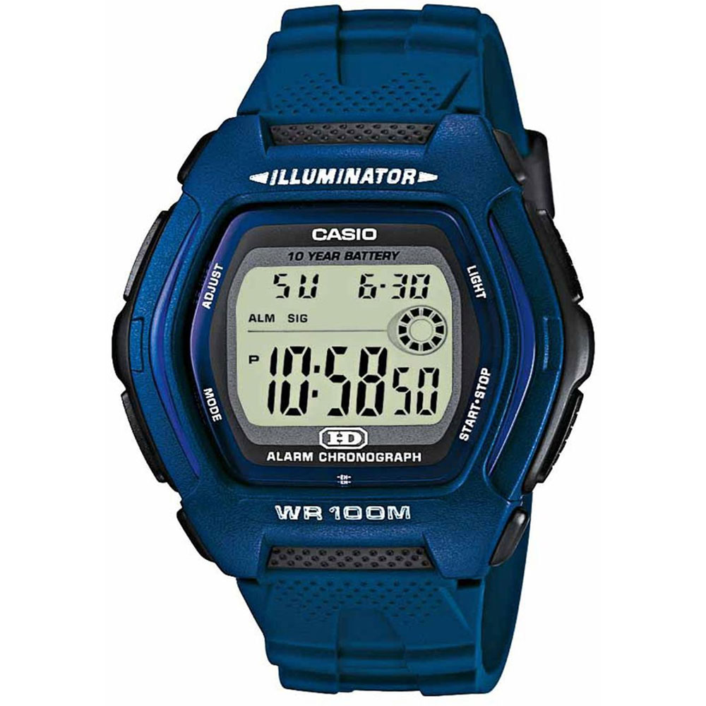 CASIO Collection Blue Rubber Strap HDD-600C-2AVES