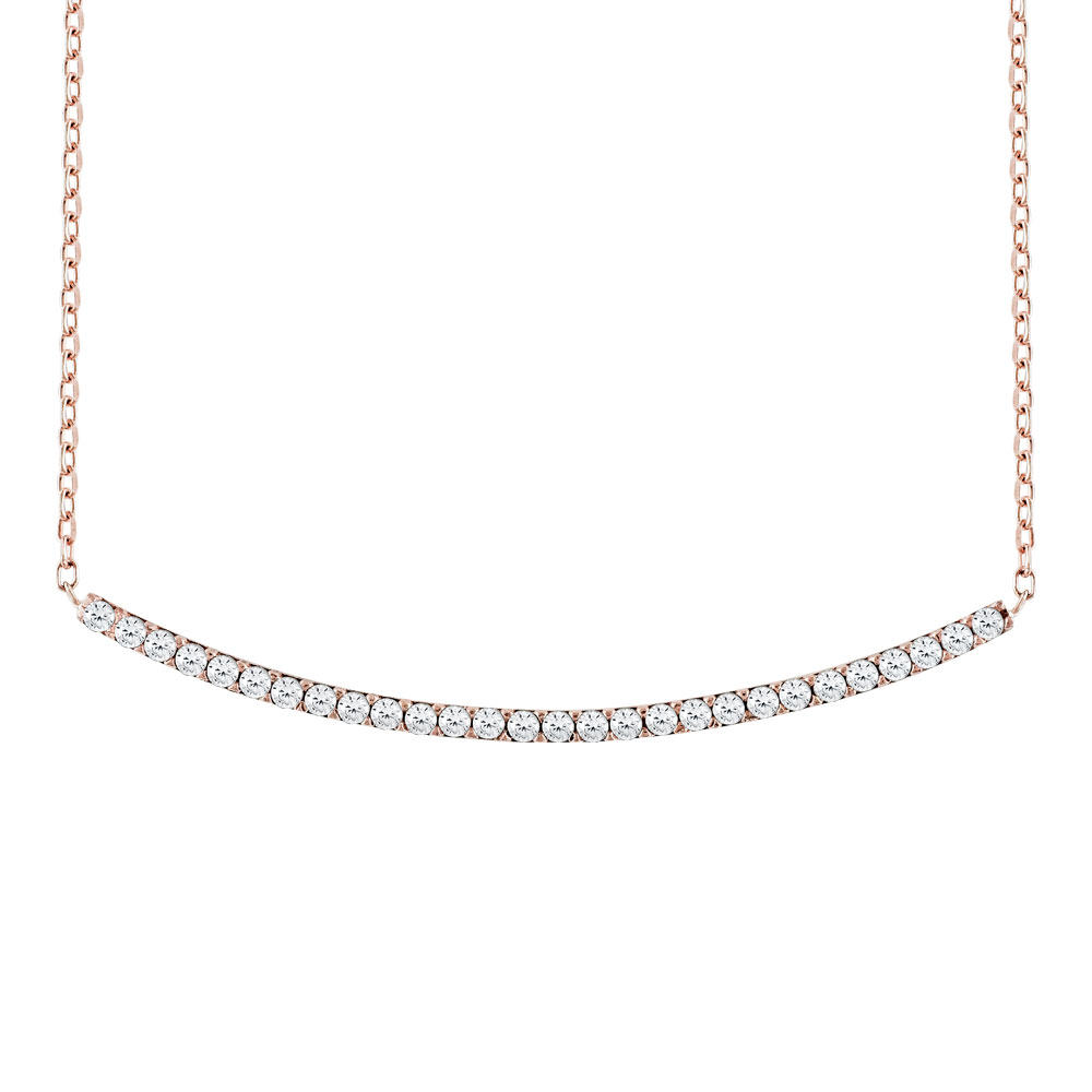 Ροζ Χρυσό Κολιέ Minimal Lines Κ14 KL510