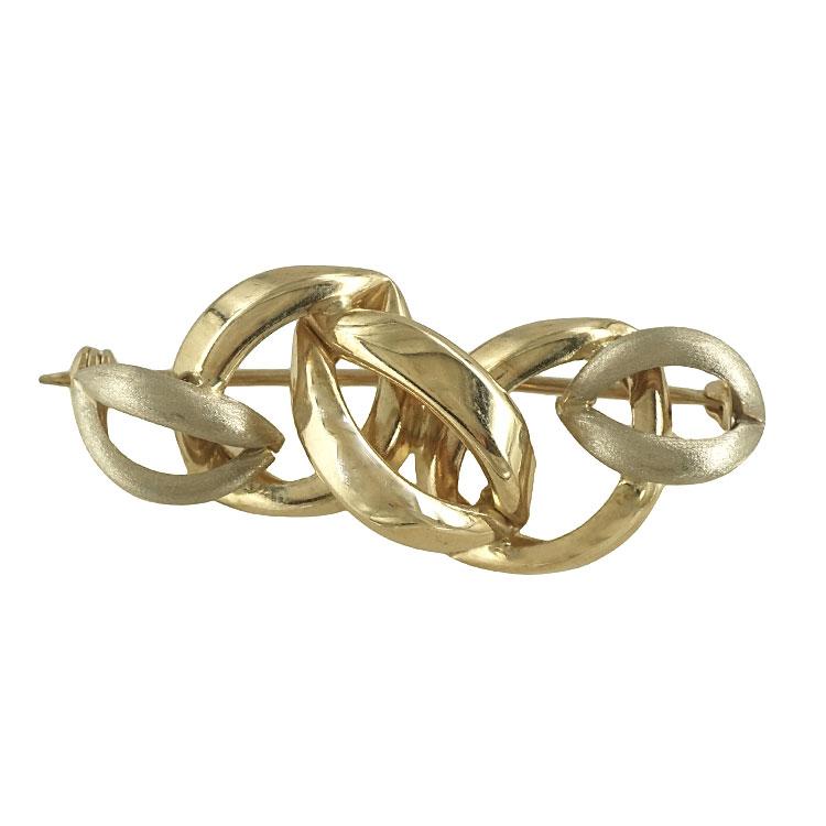 Καρφίτσα από Κίτρινο Χρυσό 14 Καρατίων KRF109