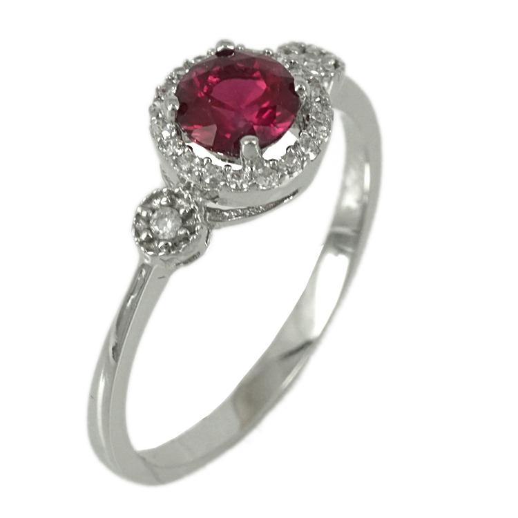Λευκόχρυσο Δαχτυλίδι Ροζέτα K14 DX75018