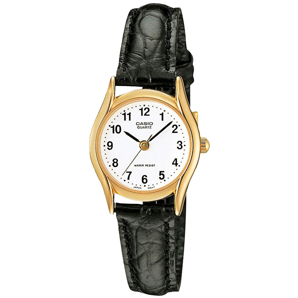 CASIO Collection Black Leather Strap LTP-1154PQ-7BEF