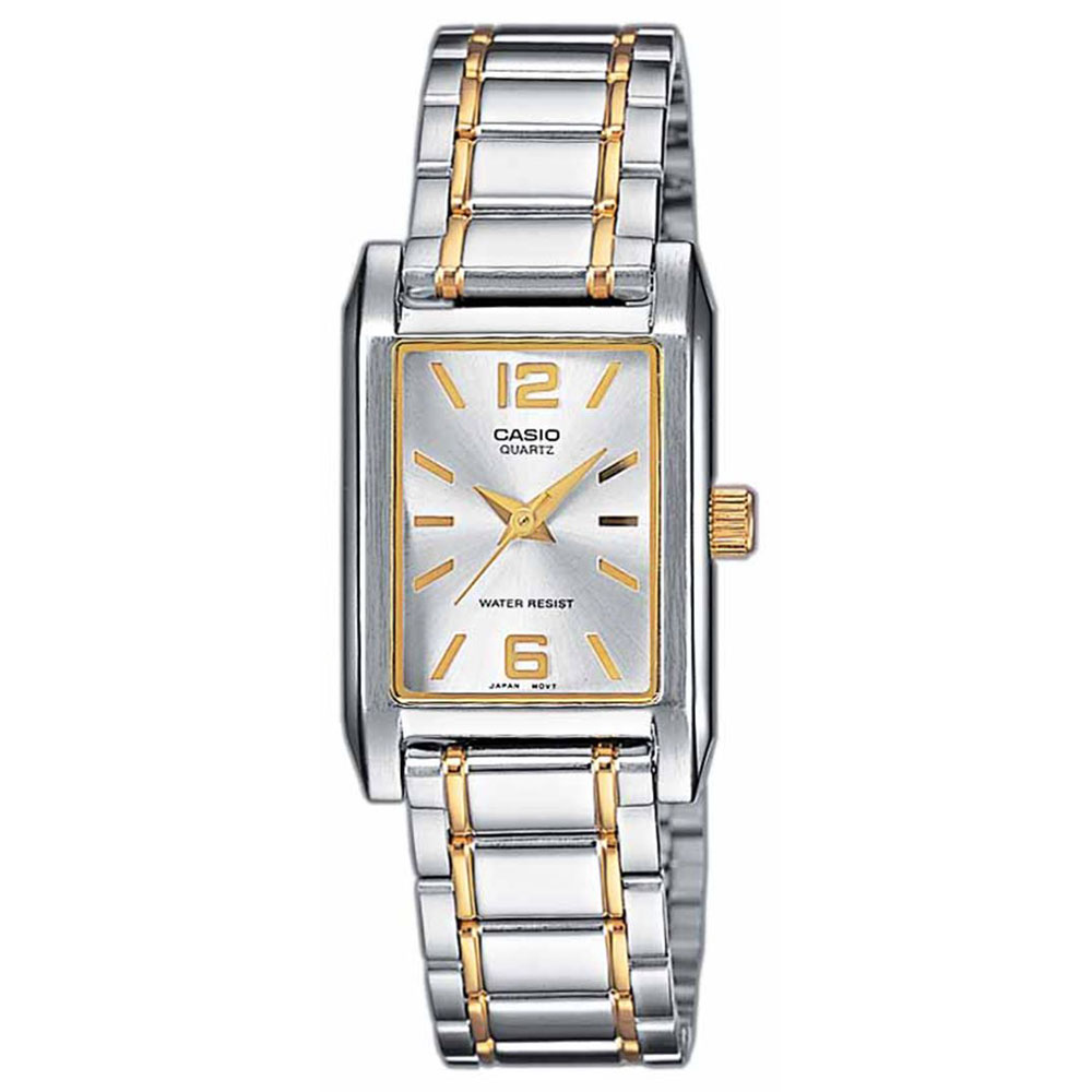 CASIO Collection Two-Tones stainless Steel Bracelet LTP-1235PSG-7AEF