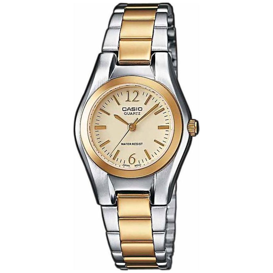 CASIO Collection Two-Tones Stainless Steel Bracelet LTP-1280PSG-9AEF