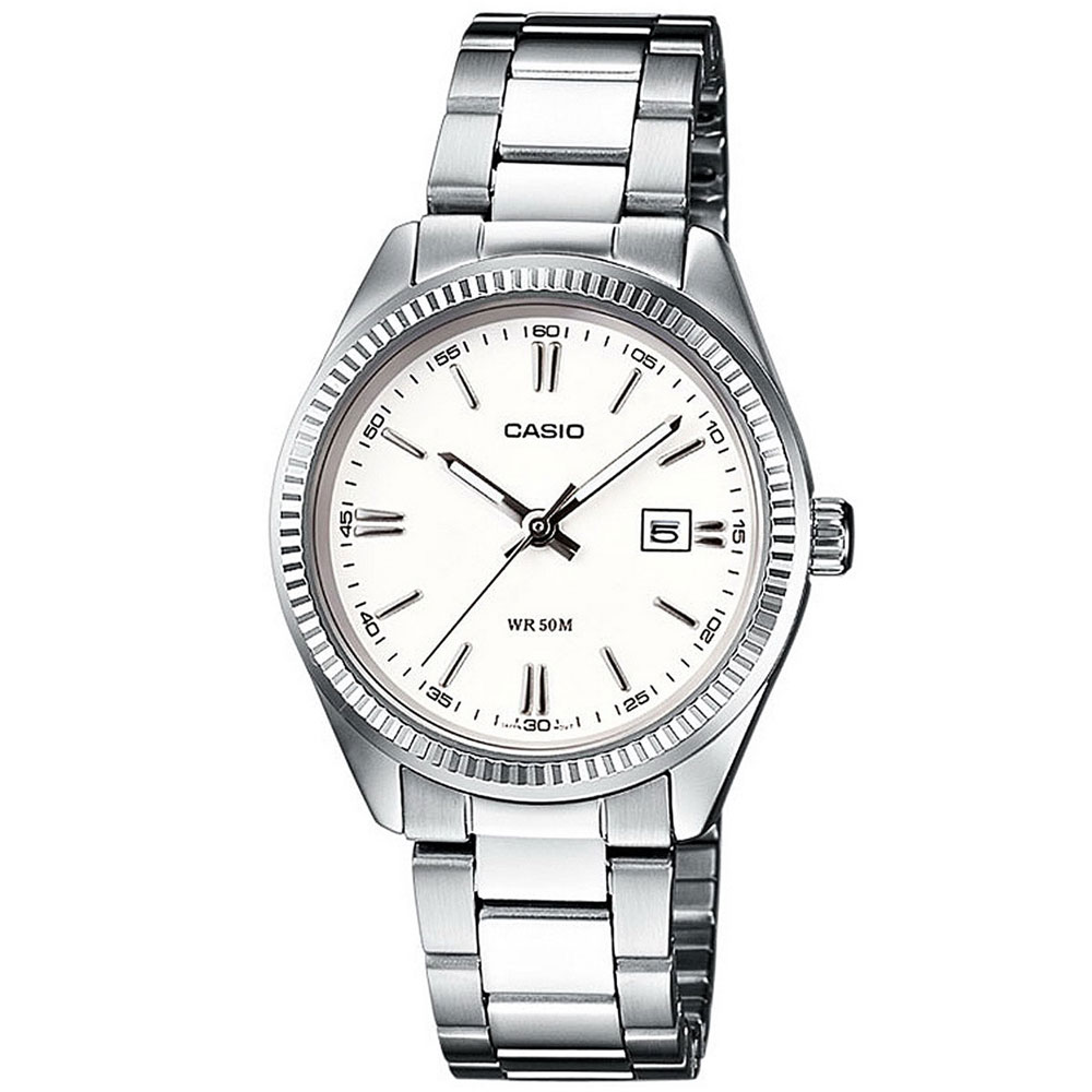 CASIO Collection Stainless Steel Bracelet White Dial LTP-1302PD-7A1VEF