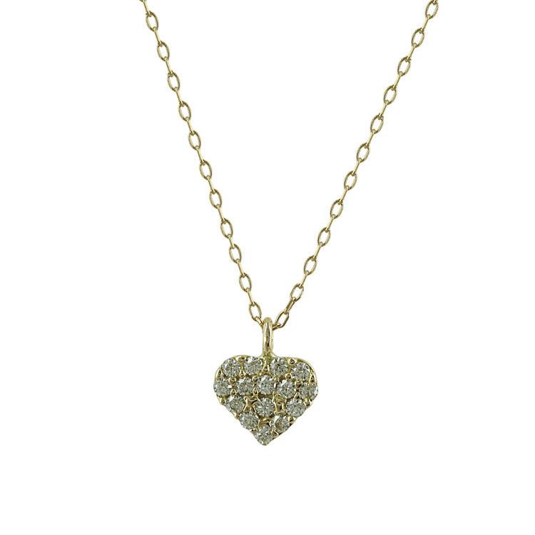 Κίτρινο Χρυσό Μενταγιόν Καρδιά Κ14 M235
