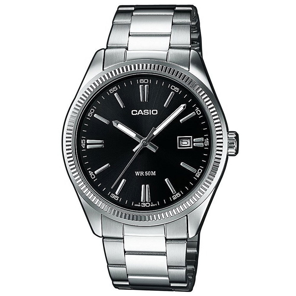 CASIO Collection Stainless Steel Bracelet Black Dial MTP-1302PD-1A1VEF