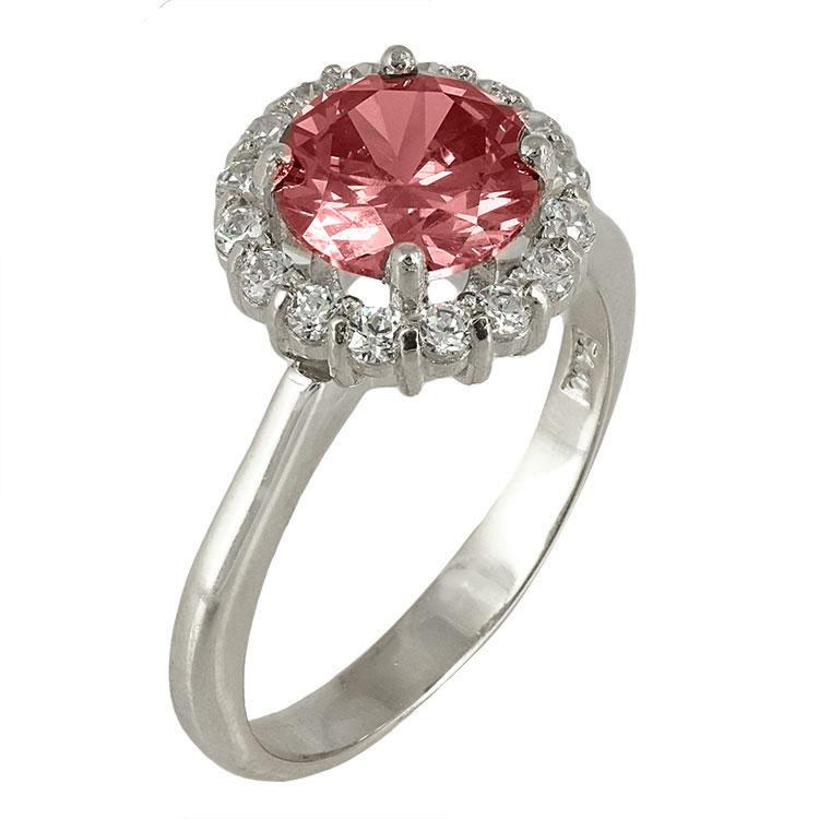 Λευκόχρυσο Δαχτυλίδι Ροζέτα Κ14 DX416