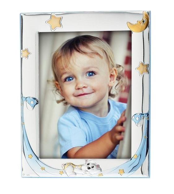 Princelino Ασημένια Παιδική Κορνίζα για Αγόρι MA/128F-C